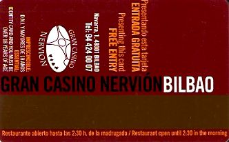 Hotel Keycard Best Western Bilbao Spain Back