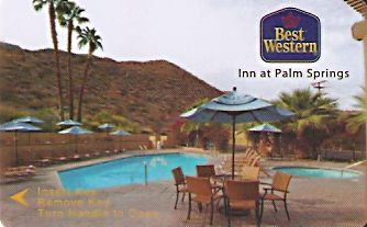 Hotel Keycard Best Western California (State) U.S.A. (State) Front