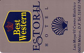 Hotel Keycard Best Western Mexico City Mexico Front