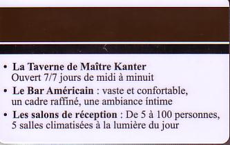Hotel Keycard Best Western Reims France Back