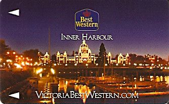 Hotel Keycard Best Western Victoria Canada Front