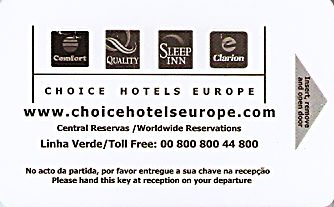 Hotel Keycard Choice Hotels Generic Front