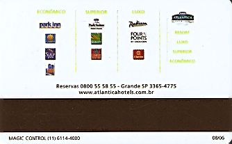 Hotel Keycard Choice Hotels  Brazil Back