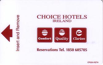 Hotel Keycard Choice Hotels  Ireland Front