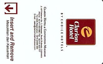 Hotel Keycard Clarion Hotel Makassar Indonesia Front