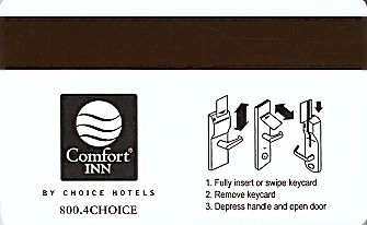 Hotel Keycard Comfort Inn & Suites Colorado (State) U.S.A. (State) Back