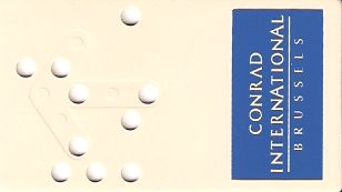 Hotel Keycard Conrad Brussels Belgium Front