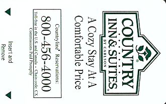 Hotel Keycard Country Inns & Suites Generic Front