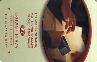 Hotel Keycard Crowne Plaza Generic Front
