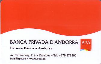 Hotel Keycard Crowne Plaza  Andorra Front