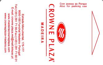 Hotel Keycard Crowne Plaza Madeira Portugal Front