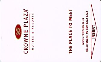 Hotel Keycard Crowne Plaza Marbella Spain Front
