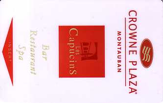 Hotel Keycard Crowne Plaza Montauban France Front