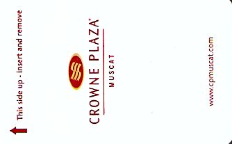 Hotel Keycard Crowne Plaza Muscat Oman Front