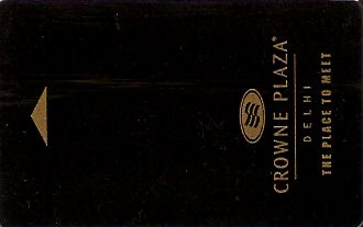 Hotel Keycard Crowne Plaza New Delhi India Front