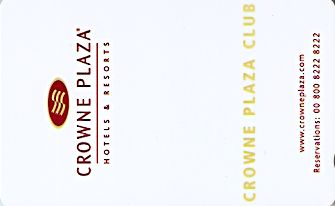 Hotel Keycard Crowne Plaza Paris France Front