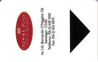 Hotel Keycard Crowne Plaza Santiago Chile Front