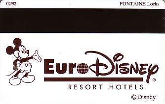 Hotel Keycard Disney Hotels Paris France Back