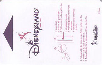 Hotel Keycard Disney Hotels Paris France Front