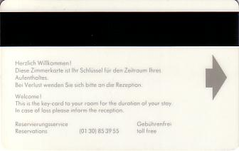 Hotel Keycard Forum Hotel Berlin Germany Back