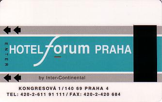 Hotel Keycard Forum Hotel Prague Czech Republic Front