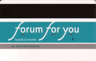 Hotel Keycard Forum Hotel Prague Czech Republic Back