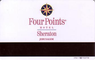 Hotel Keycard Four Points Hotels Jerusalem Israel Back
