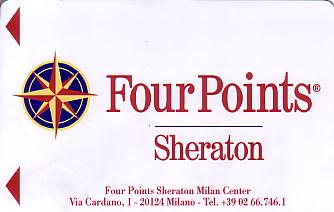 Hotel Keycard Four Points Hotels Milan Italy Front