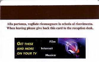 Hotel Keycard Four Points Hotels Milan Italy Back