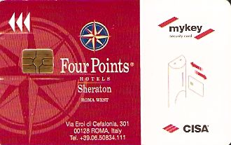 Hotel Keycard Four Points Hotels Rome Italy Front