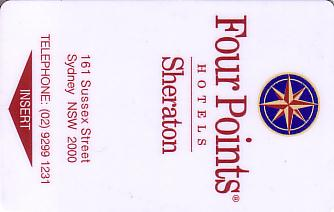 Hotel Keycard Four Points Hotels Sydney Australia Front