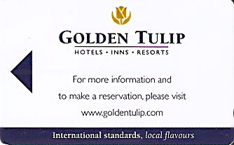 Hotel Keycard Golden Tulip Generic Front