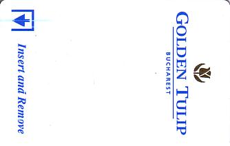 Hotel Keycard Golden Tulip Bucharest Romania Front