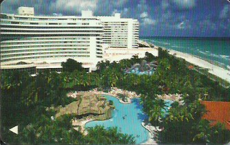 Hotel Keycard Hilton Fontainebleau France Front