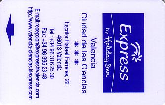 Hotel Keycard Holiday Inn Express Valencia Esp Spain Front