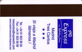 Hotel Keycard Holiday Inn Express Valencia Esp Spain Back