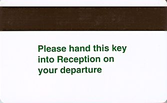 Hotel Keycard Holiday Inn Generic Back