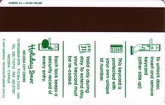 Hotel Keycard Holiday Inn Nicosia Cyprus Back