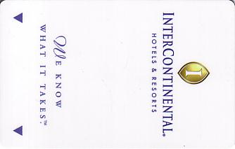 Hotel Keycard Inter-Continental Generic Front