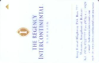 Hotel Keycard Inter-Continental  Bahrain Front