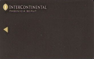 Hotel Keycard Inter-Continental Beirut Lebanon Front
