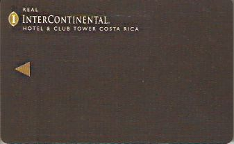 Hotel Keycard Inter-Continental  Costa Rica Front