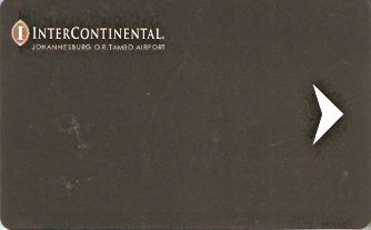Hotel Keycard Inter-Continental Johannesburg South Africa Front