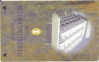 Hotel Keycard Inter-Continental Managua Nicaragua Front