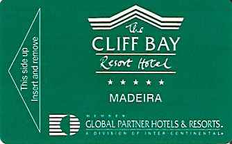 Hotel Keycard Inter-Continental Madeira Portugal Front