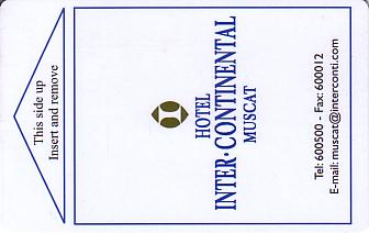 Hotel Keycard Inter-Continental Muscat Oman Front