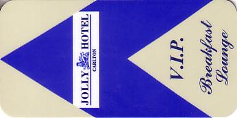 Hotel Keycard Jolly Hotels Generic Front