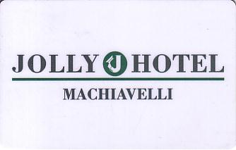 Hotel Keycard Jolly Hotels Machiavelli Italy Front