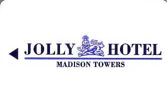 Hotel Keycard Jolly Hotels Madison Towers  Front