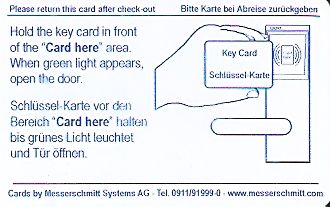 Hotel Keycard Maritim Berlin Germany Back